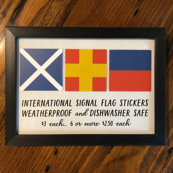 International Signal Flag Stickers - Annapolis Maritime Antiques