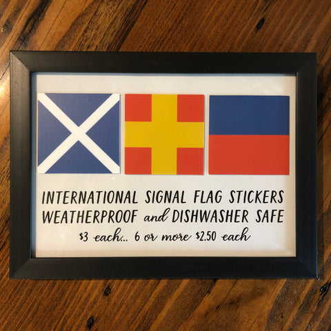 International Signal Flag Stickers