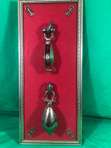 Display, Pair of Brass Shackles, Late 1800's