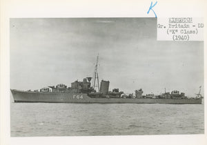 "British and Canadian ""K"" Class Destroyers"