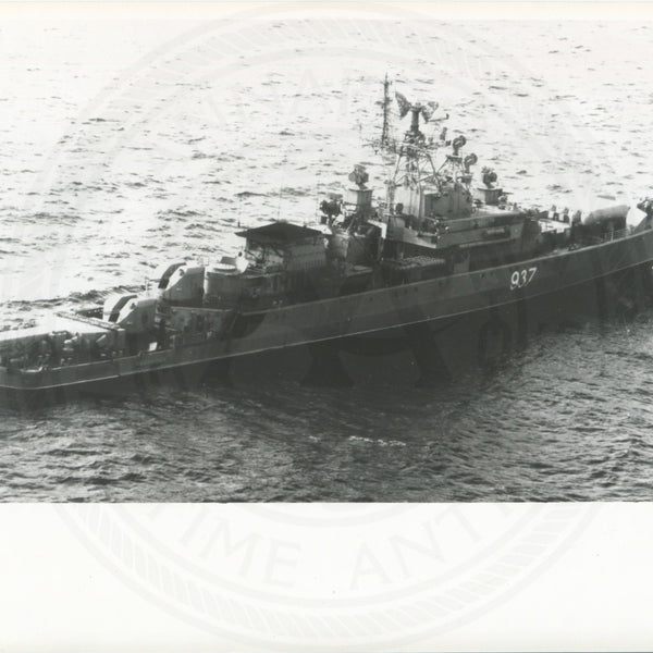Official U.S. Navy photo of Soviet Krivak I class frigate Zadornyy - Annapolis Maritime Antiques