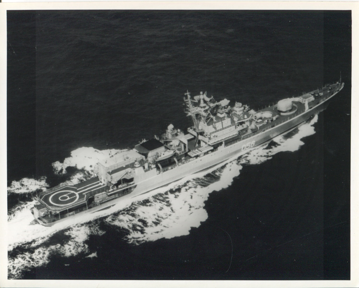 Official U.S. Navy photo of Soviet Krivak III class frigate Menzhinskiy - Annapolis Maritime Antiques