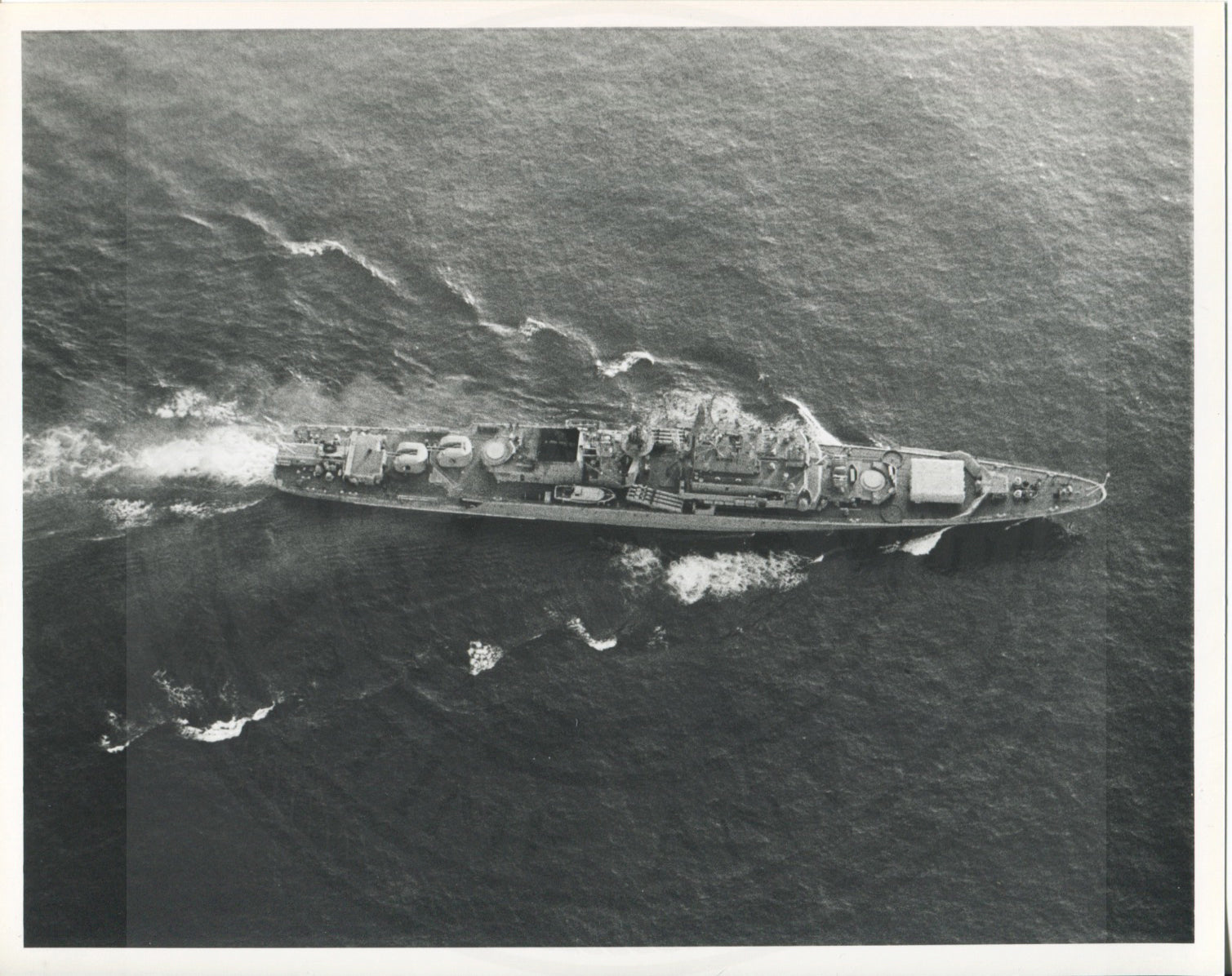 Official U.S. Navy photo of Soviet Krivak I class frigate Restovinyy - Annapolis Maritime Antiques