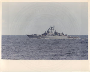 Official U.S. Navy photo of Soviet Krivak I class frigate Druzhny. - Annapolis Maritime Antiques