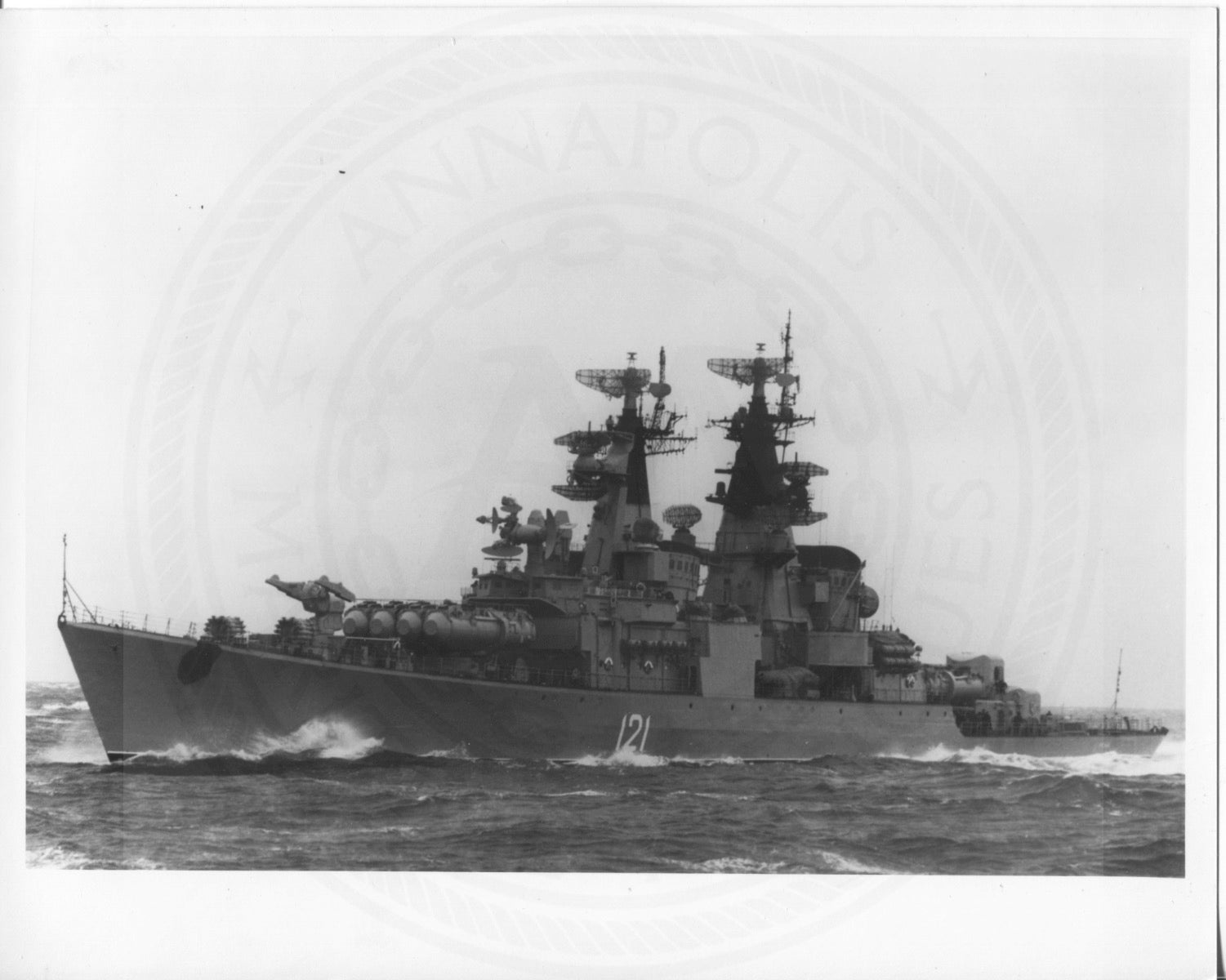 Official U.S. Navy photo the Soviet missile cruiser Kynda class - Annapolis Maritime Antiques