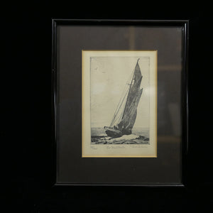 "Signed pencil etching of ""Lee Rail Under"" by Don Swann #39/300"