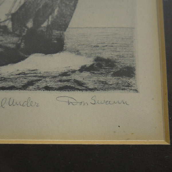 Close up of artist Don Swann signature