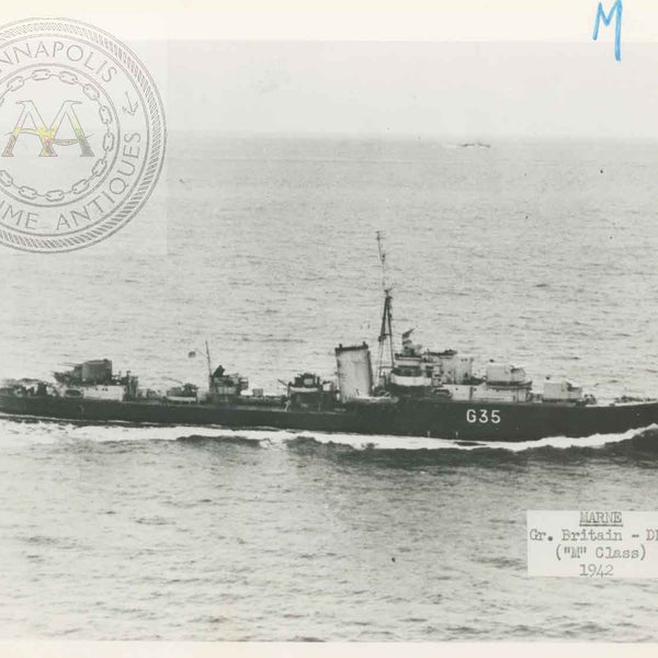 "British and Canadian ""M"" Class Destroyers"