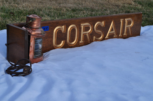 "Quarter Board, ""Corsair"", with Tung Woo Starboard Light"