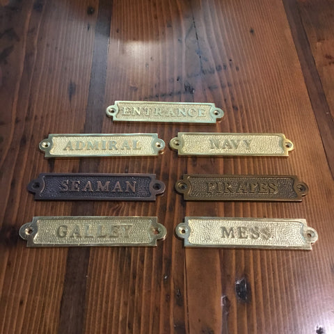 Assorted Name Plates