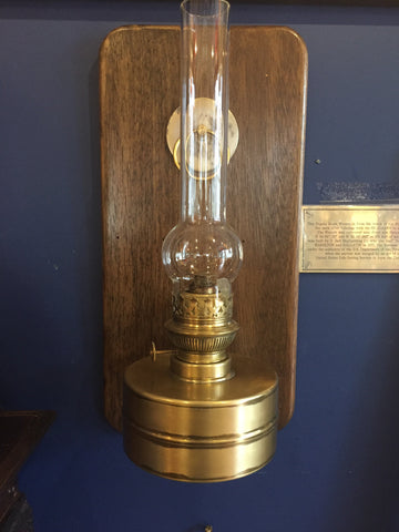 Lamp, late 1800s restored hurricane lamp (for the pair)