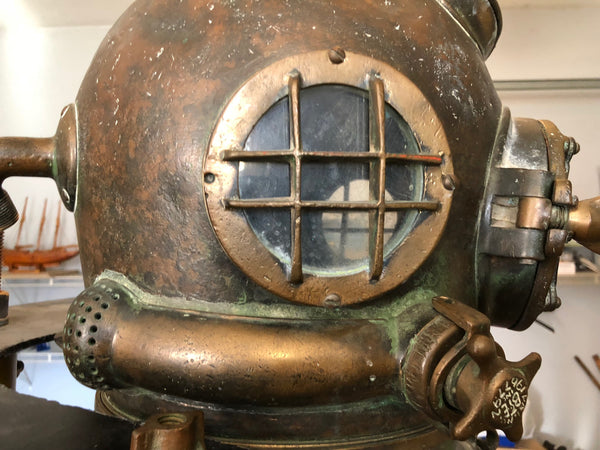 US Navy Antique MK V Diving Helmet and Complete Suit, A. Schrader's & Son, NY - Annapolis Maritime Antiques
