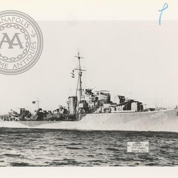 "British and Canadian ""P"" Class Destroyers"