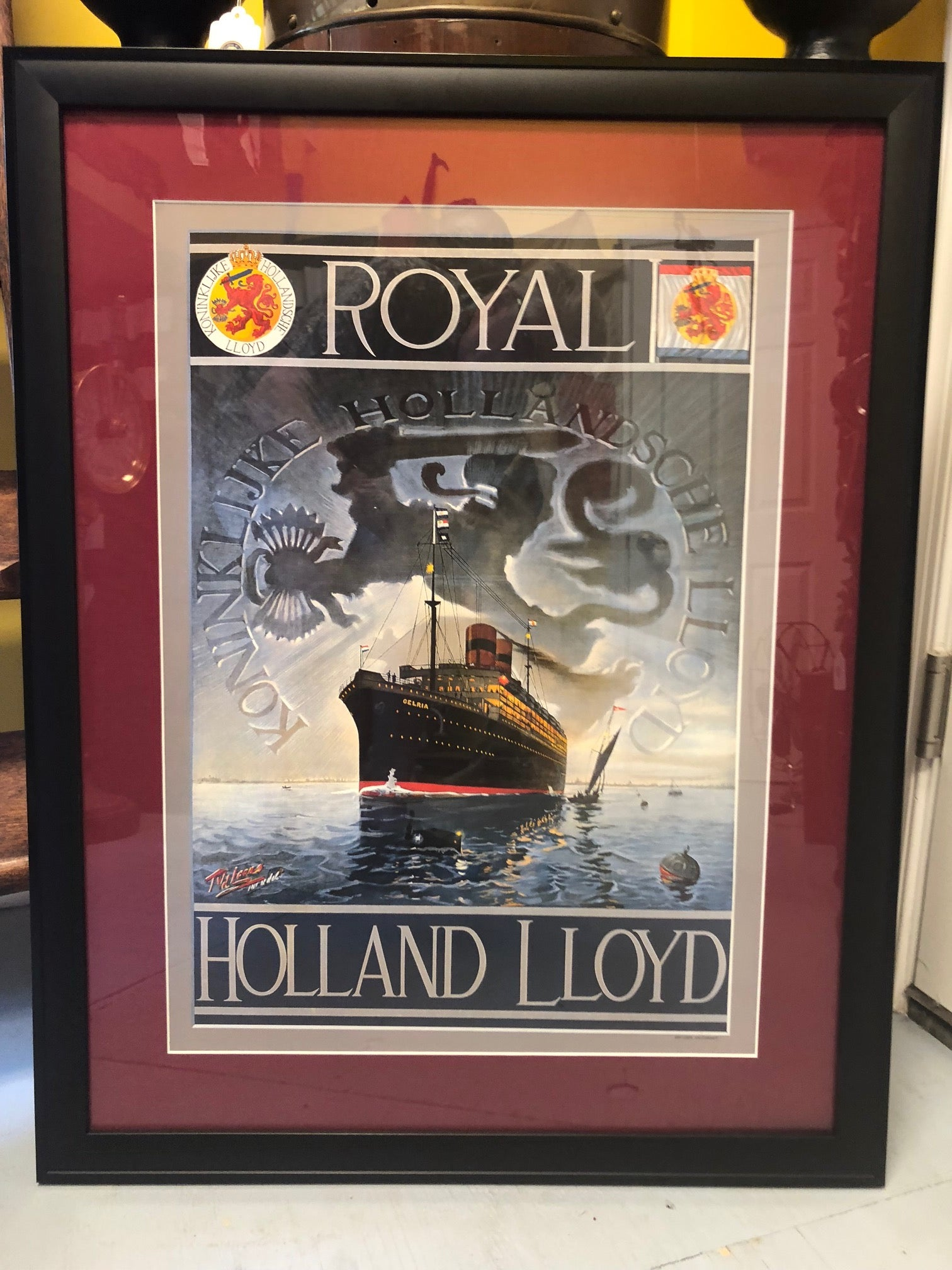 Advertising Poster, Royal Holland Lloyd Cruise Lines - Annapolis Maritime Antiques