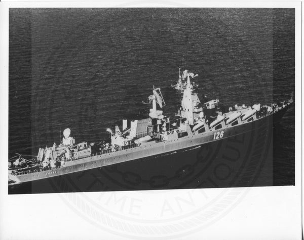 Official U.S. Navy photo the Soviet missile cruiser Slava class - Annapolis Maritime Antiques