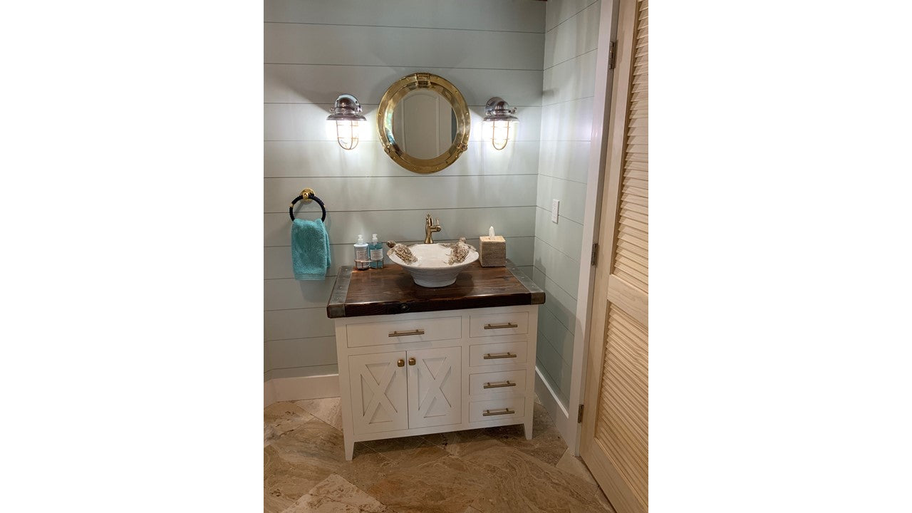 Liberty Ship Hatch Cover Bathroom Vanity Cabinetry w/Sink