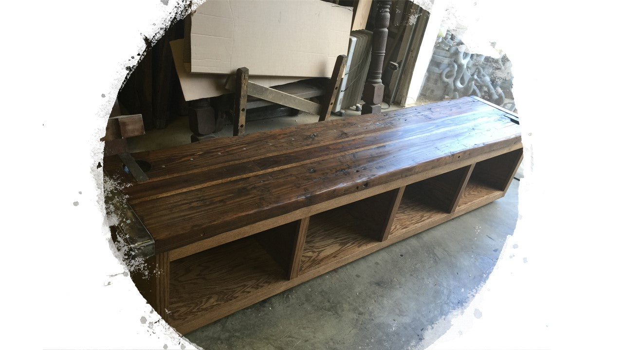 Liberty Ship Hatch Cover Bench  w/Storage