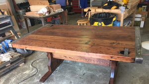 Liberty Ship Hatch Cover Table w/Custom Trestle Base