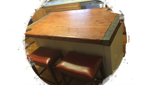 Liberty Ship Hatch Cover Kitchen Center Island Breakfast Bar w/Cabinets and Drawers