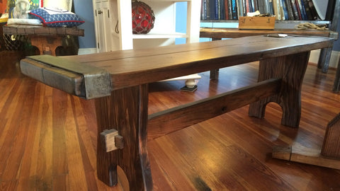 Liberty Ship Hatch Cover Bench w/Custom Trestle Base