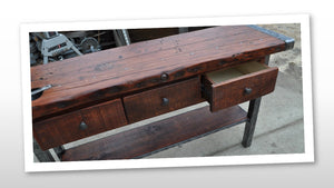 Liberty Ship Hatch Cover Sofa Console w/Storage Drawers