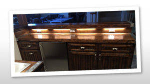 Liberty Ship Hatch Cover Bar  w/refrigerator, cabinetry, drawers, custom lighting