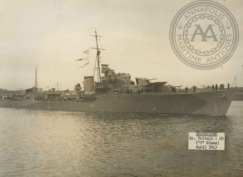 "British and Canadian ""T"" Class Destroyers"