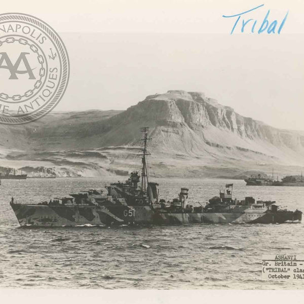 "British and Canadian ""Tribal"" Class Destroyers"