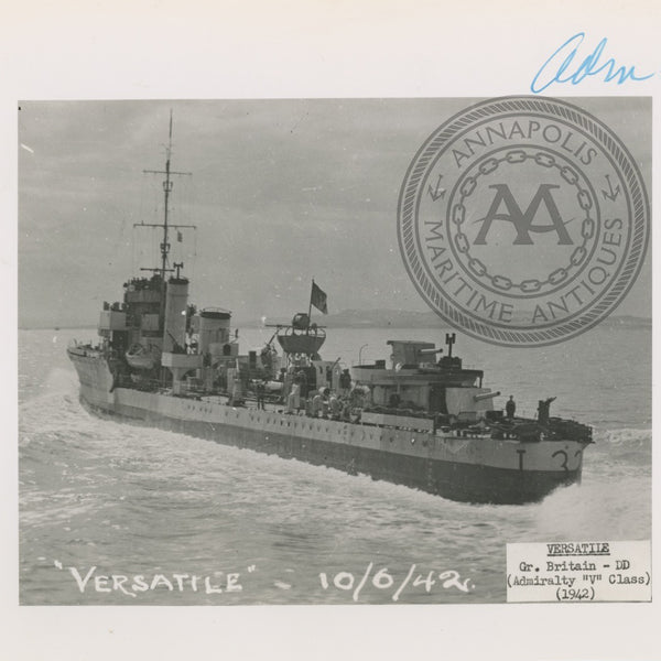 "British and Canadian Admiralty ""V"" Class Destroyers (B)"