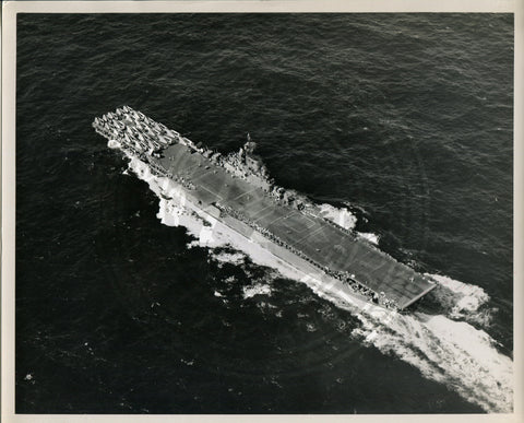 Official Navy Photo of WWII era USS Wasp (CV-18) Aircraft Carrier - Annapolis Maritime Antiques