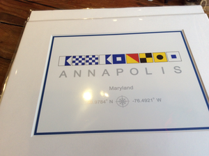 Flag, Annapolis  Nautical, Print 11 x 14 - Annapolis Maritime Antiques