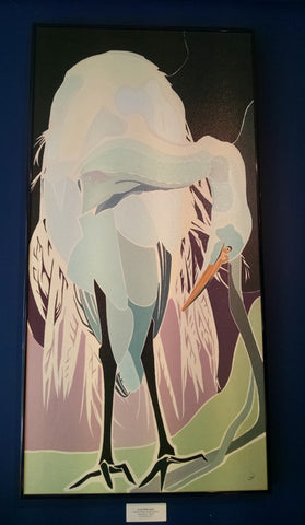 Art, By Judy Ward, Great White Egret - Annapolis Maritime Antiques
