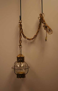 Onion Lamp w/electricity & chain