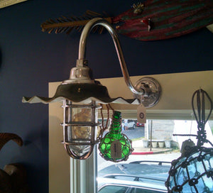 Light, Wave, Green Aluminum - Annapolis Maritime Antiques