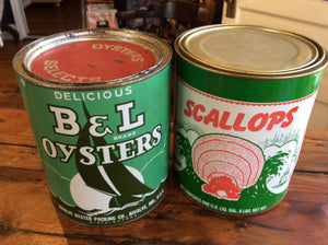 Oyster Tin Containers - Annapolis Maritime Antiques