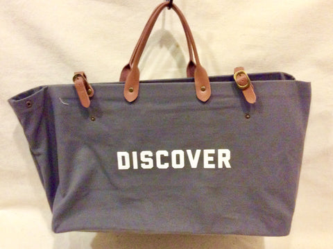 "Bag, Canvas with genuine leather, ""Discover"" - Annapolis Maritime Antiques"