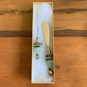 App Fork & Knife Set, Sea Glass