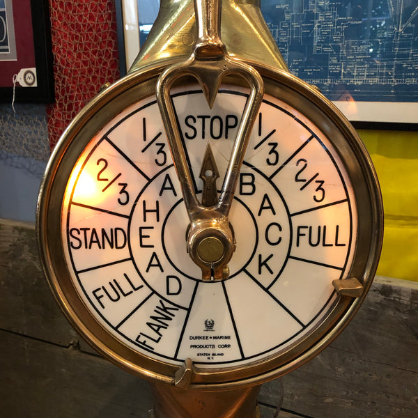 Engine Order Telegraph, Durkee Marine, Staten Island, NY,  circa late 1800's