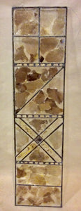 "Artwork, ""LOVE"" Mica And Leaded Glass Franciska Needham - Annapolis Maritime Antiques"