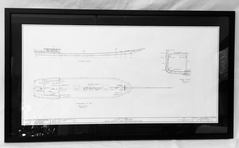Art, Lucia A. Simpson, Framed Hull Plan
