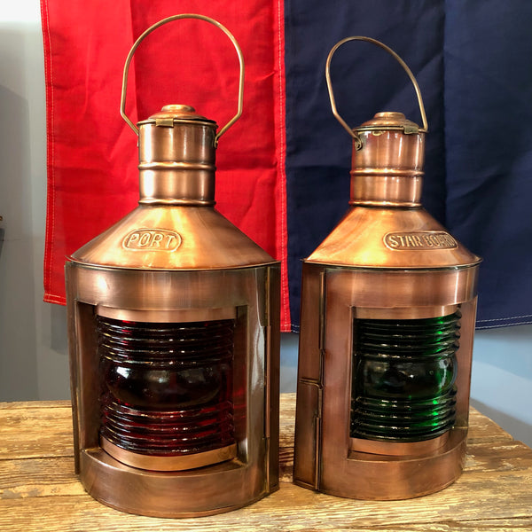 Copper Port/Starboard Lights, Small - Annapolis Maritime Antiques