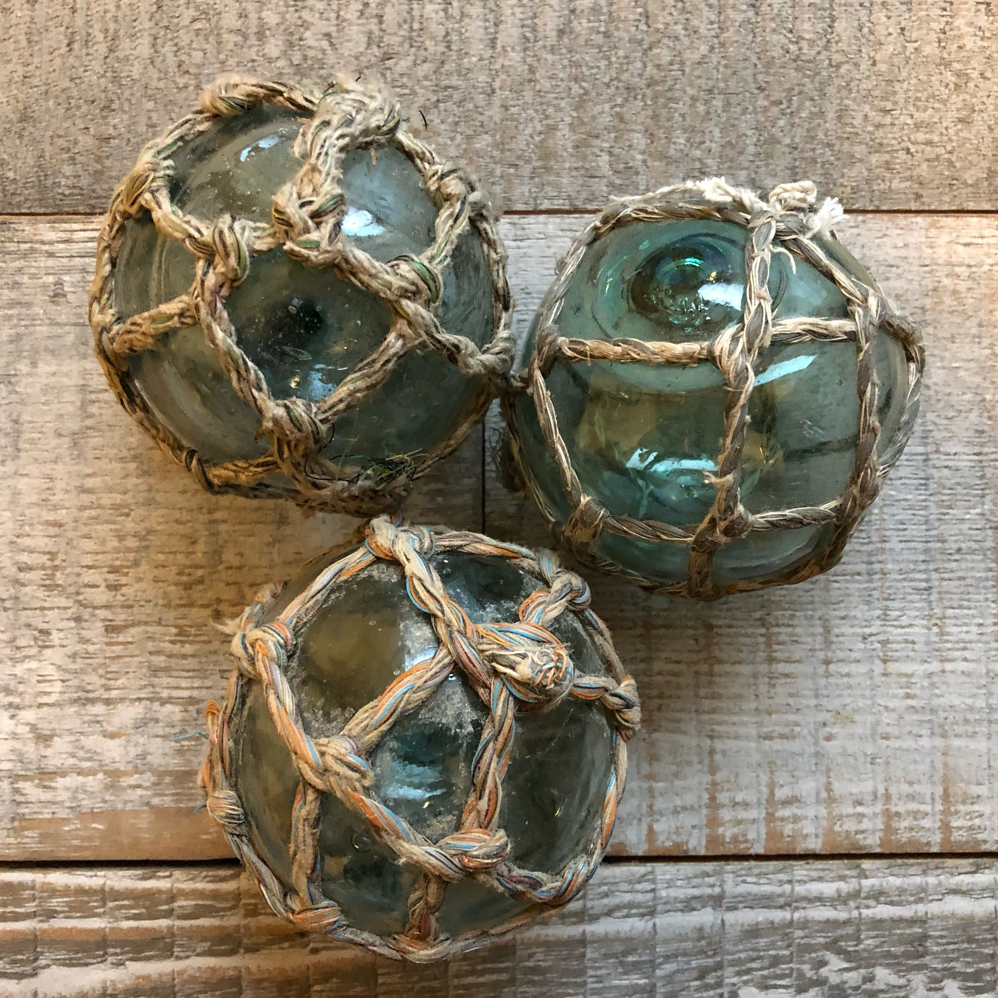 "3"" and 4"" Salvaged Glass Floats - Annapolis Maritime Antiques"