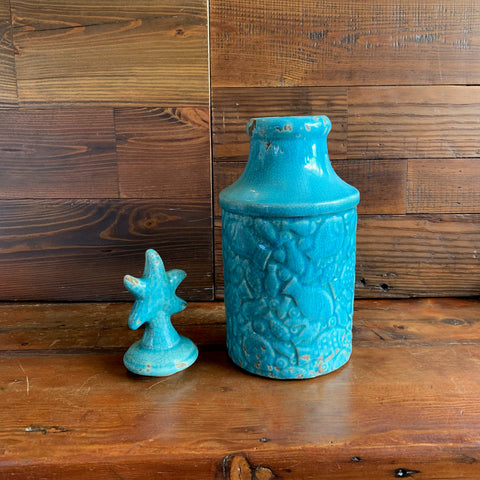 Light Blue Fish Vase
