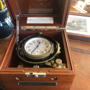 U. S. Navy Ship's Chronometer, Model 22, Circa 1942, Hamilton Watch Co, Lancaster PA - Annapolis Maritime Antiques