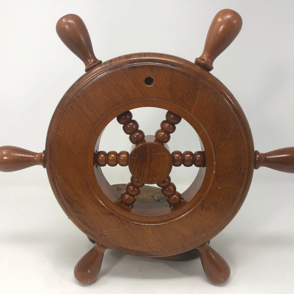 Ship's Wheel, Mahogany with Steel Hub