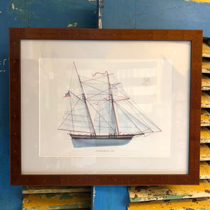 """Experiment"", Melbourne Smith framed print - Annapolis Maritime Antiques"