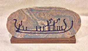 Scandinavian Rock Carving Reproduction On Granite - Annapolis Maritime Antiques