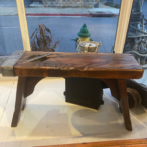 Bench, Small, WWII Liberty ship hatch cover - Annapolis Maritime Antiques