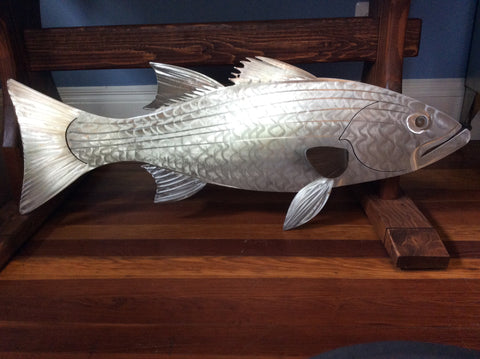 "ROCK FISH, 36"", stainless steel, hand-made"