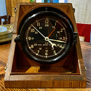 Chelsea Clock in Original Carrying Box - Annapolis Maritime Antiques